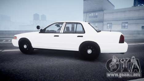 Ford Crown Victoria LCPD Unmarked [ELS] para GTA 4 left