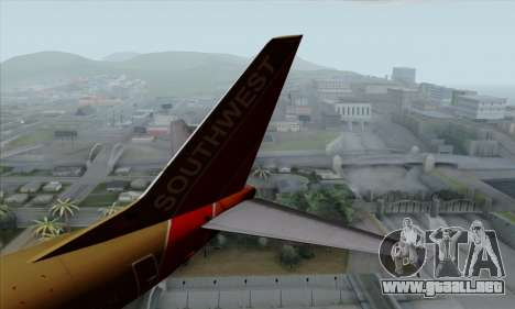 Boeing 737-800 Southwest Gold para GTA San Andreas