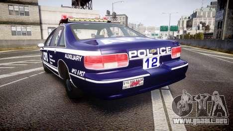 Chevrolet Caprice 1993 LCPD WoH Auxiliary [ELS] para GTA 4 Vista posterior izquierda