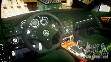 Mercedes-Benz C180 FlyUS para GTA 4 vista hacia atrás