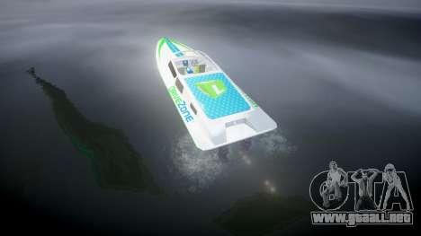 Barco a Motor para GTA 4 Vista posterior izquierda