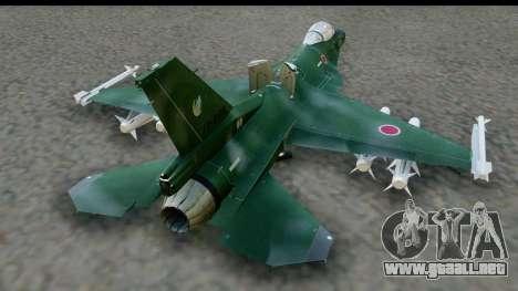 F-2A Zero Dark Green para la visión correcta GTA San Andreas