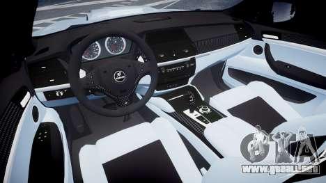 BMW X6 Tycoon EVO M 2011 Hamann para GTA 4 vista hacia atrás