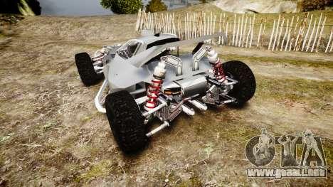 Buggy X para GTA 4 Vista posterior izquierda