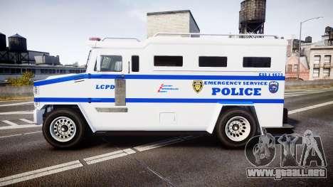 GTA V Brute Police Riot [ELS] skin 4 para GTA 4 left