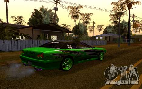 DGTK Elegy v1 para GTA San Andreas vista hacia atrás