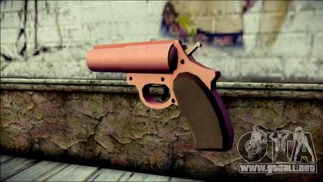 Pink Lanza Bengalas from GTA 5 para GTA San Andreas segunda pantalla