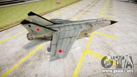 El MiG-25 para GTA 4 left