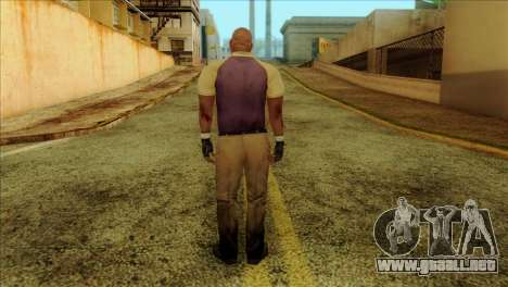 Coach from Left 4 Dead 2 para GTA San Andreas segunda pantalla