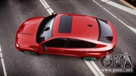 BMW X6 Tycoon EVO M 2011 Hamann para GTA 4 visión correcta