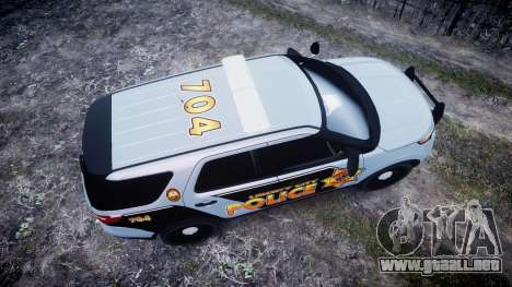 Ford Explorer Police Interceptor [ELS] marked para GTA 4 visión correcta