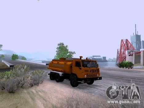 KamAZ 53212 para GTA San Andreas vista posterior izquierda