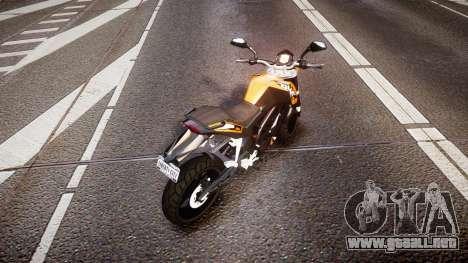 KTM 125 Duke para GTA 4 Vista posterior izquierda