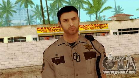 Depurty Alex Shepherd Skin without Flashlight para GTA San Andreas tercera pantalla