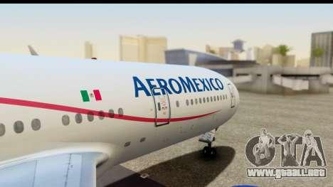 Boeing 777-200ER AeroMexico para la visión correcta GTA San Andreas