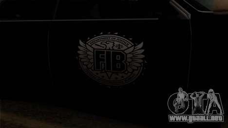 Sultan FIB para GTA San Andreas vista hacia atrás
