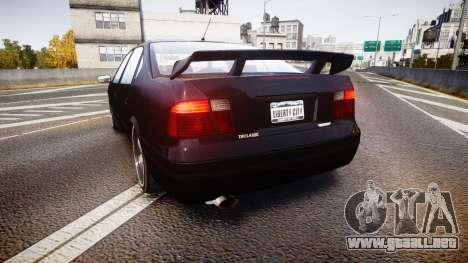 Declasse Merit GTO para GTA 4 Vista posterior izquierda