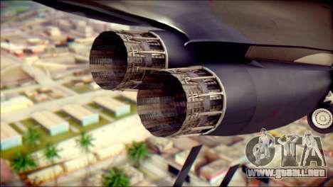 B-1B Lancer Camo Texture para la visión correcta GTA San Andreas