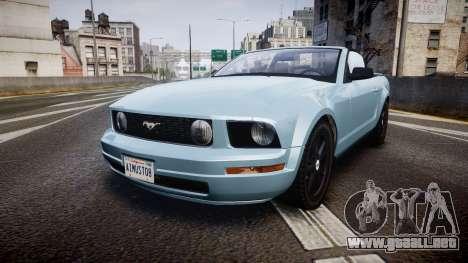 Ford Mustang Convertible Mk.V 2008 para GTA 4