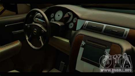 Chevrolet Suburban 2010 NFS para la visión correcta GTA San Andreas
