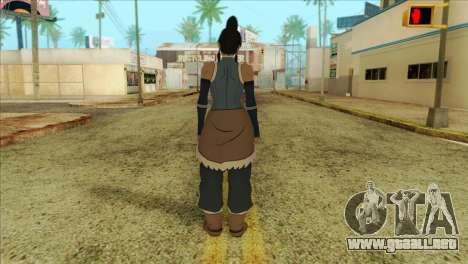 Korra Skin from The Legend Of Korra para GTA San Andreas segunda pantalla
