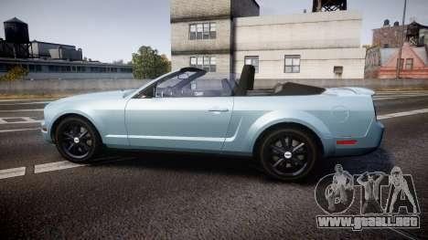 Ford Mustang Convertible Mk.V 2008 para GTA 4 left