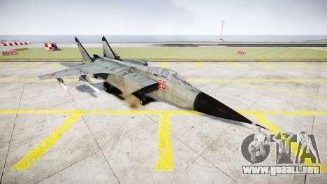 El MiG-25 para GTA 4