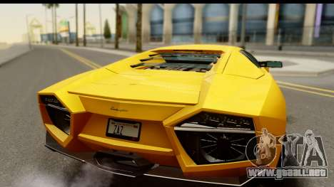 Lamborghini Reventon 2008 para la visión correcta GTA San Andreas