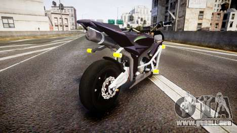 Honda CBR600RR Stunt para GTA 4 Vista posterior izquierda