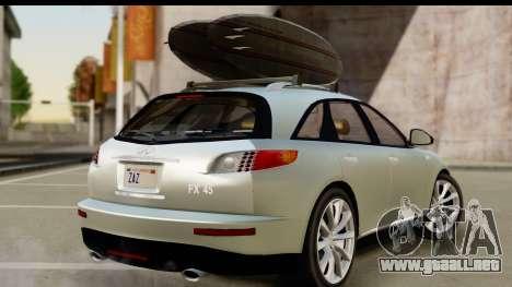 Infiniti FX 45 2007 para GTA San Andreas left