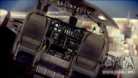 B-1B Lancer Camo Texture para GTA San Andreas vista hacia atrás