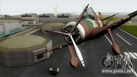 Fokker D.XXI para GTA San Andreas vista hacia atrás