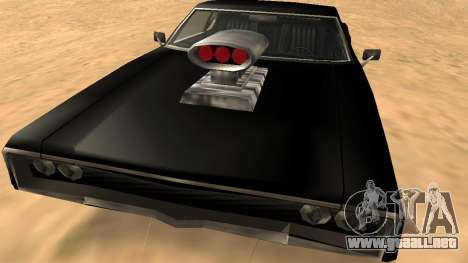 Sabre Charger para la vista superior GTA San Andreas