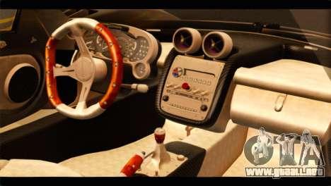 Pagani Zonda F para la visión correcta GTA San Andreas