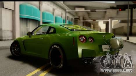 Nissan GT-R Dragster para GTA San Andreas left