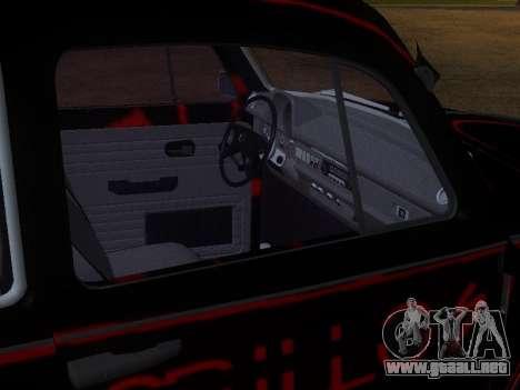 Volkswagen Super Beetle Grillos Racing v1 para vista inferior GTA San Andreas