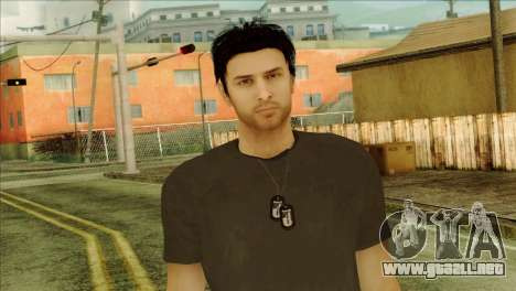 Young Alex Shepherd Skin without Flashlight para GTA San Andreas tercera pantalla