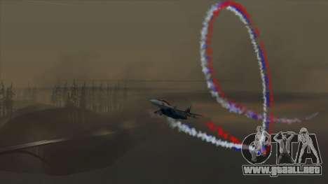 La bandera de Rusia para los aviones para GTA San Andreas tercera pantalla