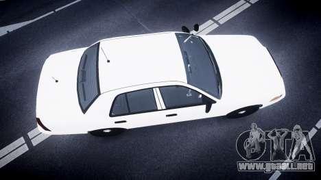 Ford Crown Victoria LCPD Unmarked [ELS] para GTA 4 visión correcta
