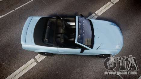 Ford Mustang Convertible Mk.V 2008 para GTA 4 visión correcta