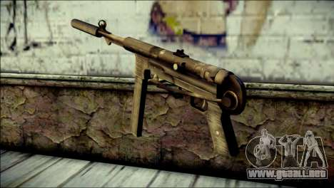 Silenced MP40 from Call of Duty World at War para GTA San Andreas segunda pantalla