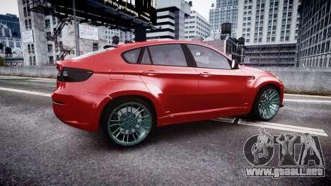 BMW X6 Tycoon EVO M 2011 Hamann para GTA 4 left