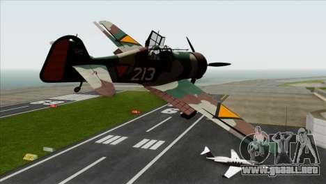 Fokker D.XXI para GTA San Andreas left