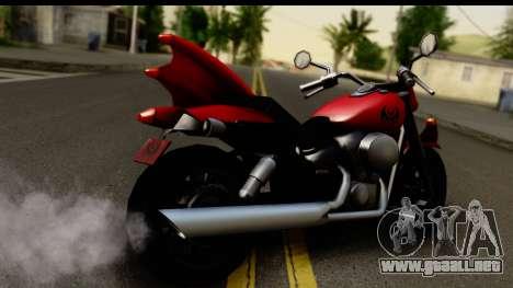 Honda Shadow 750 para GTA San Andreas left