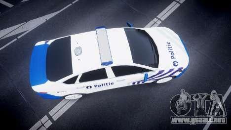 Ford Fusion 2014 Belgian Police [ELS] para GTA 4 visión correcta