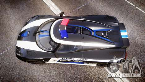 Koenigsegg Agera 2013 Police [EPM] v1.1 PJ3 para GTA 4 visión correcta