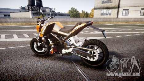 KTM 125 Duke para GTA 4 left