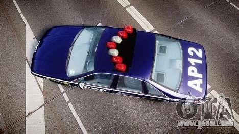 Chevrolet Caprice 1993 LCPD WoH Auxiliary [ELS] para GTA 4 visión correcta