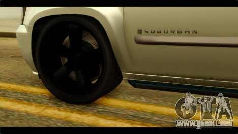 Chevrolet Suburban 2010 NFS para GTA San Andreas vista posterior izquierda