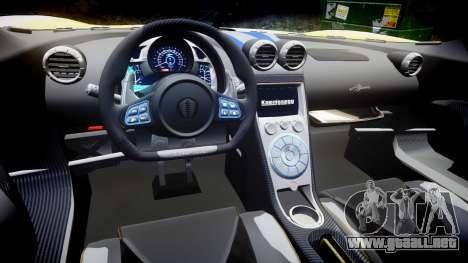 Koenigsegg Agera 2013 Police [EPM] v1.1 PJ3 para GTA 4 vista interior